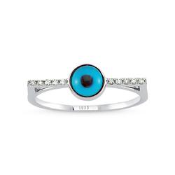 - Eyeful Cam Göz Pırlanta Yüzük Beyaz