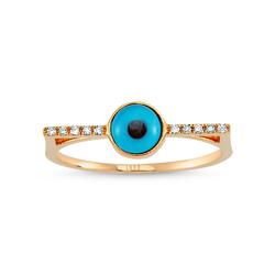 - Eyeful Cam Göz Pırlanta Yüzük Rose