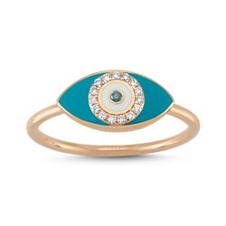 - Eyeful Mavi Mine Pırlanta Yüzük Rose