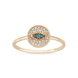- Eyeful Mavi Pırlanta Yüzük Rose