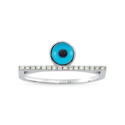 - Eyeful Middle Cam Göz Pırlanta Yüzük Beyaz