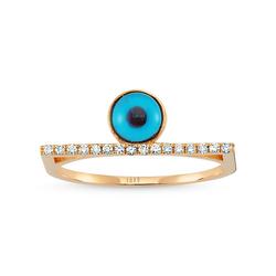 - Eyeful Middle Cam Göz Pırlanta Yüzük Rose