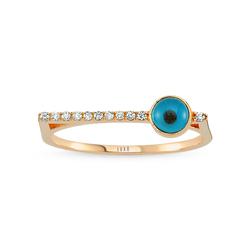 - Eyeful Side Cam Göz Pırlanta Yüzük Rose