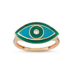 - Eyeful Yeşil Mine Pırlanta Yüzük Rose