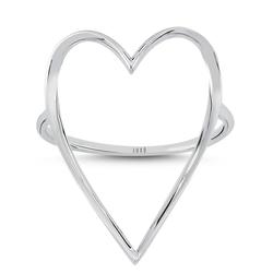 - Golden Ratio Kalp Large Yüzük Beyaz