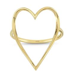 - Golden Ratio Kalp Large Yüzük Yeşil