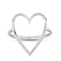 - Golden Ratio Kalp Medium Yüzük Beyaz