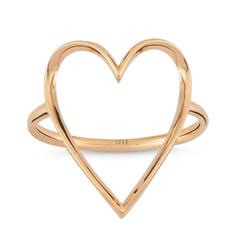 - Golden Ratio Kalp Medium Yüzük Rose