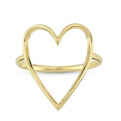 - Golden Ratio Kalp Medium Yüzük Yeşil