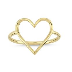 - Golden Ratio Kalp Small Yüzük Yeşil