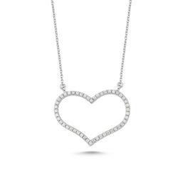 - Heartbeat Pırlanta Large Kalp Kolye