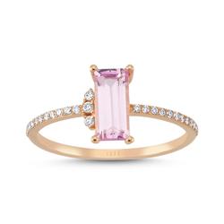 - Lotus Pink Topaz Pırlanta Yüzük