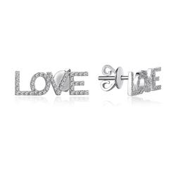 - Love Pırlanta Küpe Beyaz