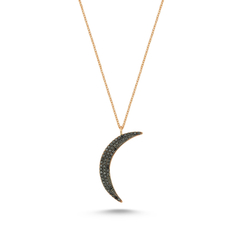- Moonwalk Siyah Pırlanta Kolye