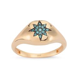 - North Star Mavi Pırlanta Yüzük